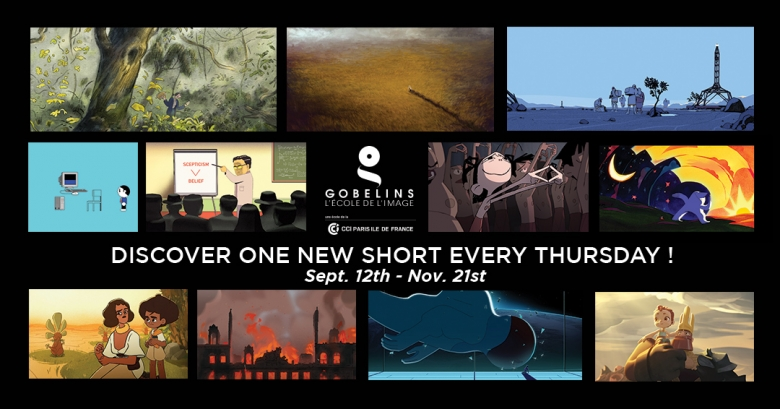 Discover GOBELINS' new short animation movies every Thursday!